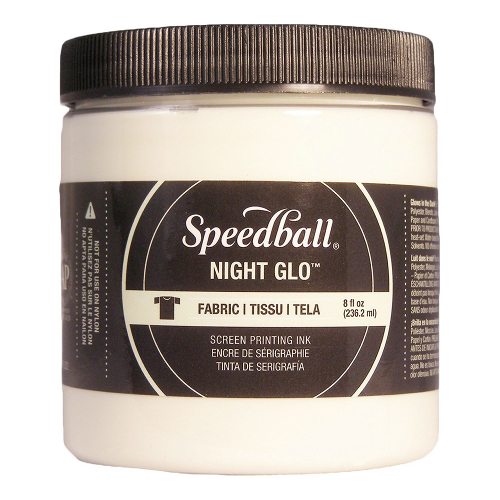 Speedball Screen Prtg Ink 8 Oz Nite Glow Whit