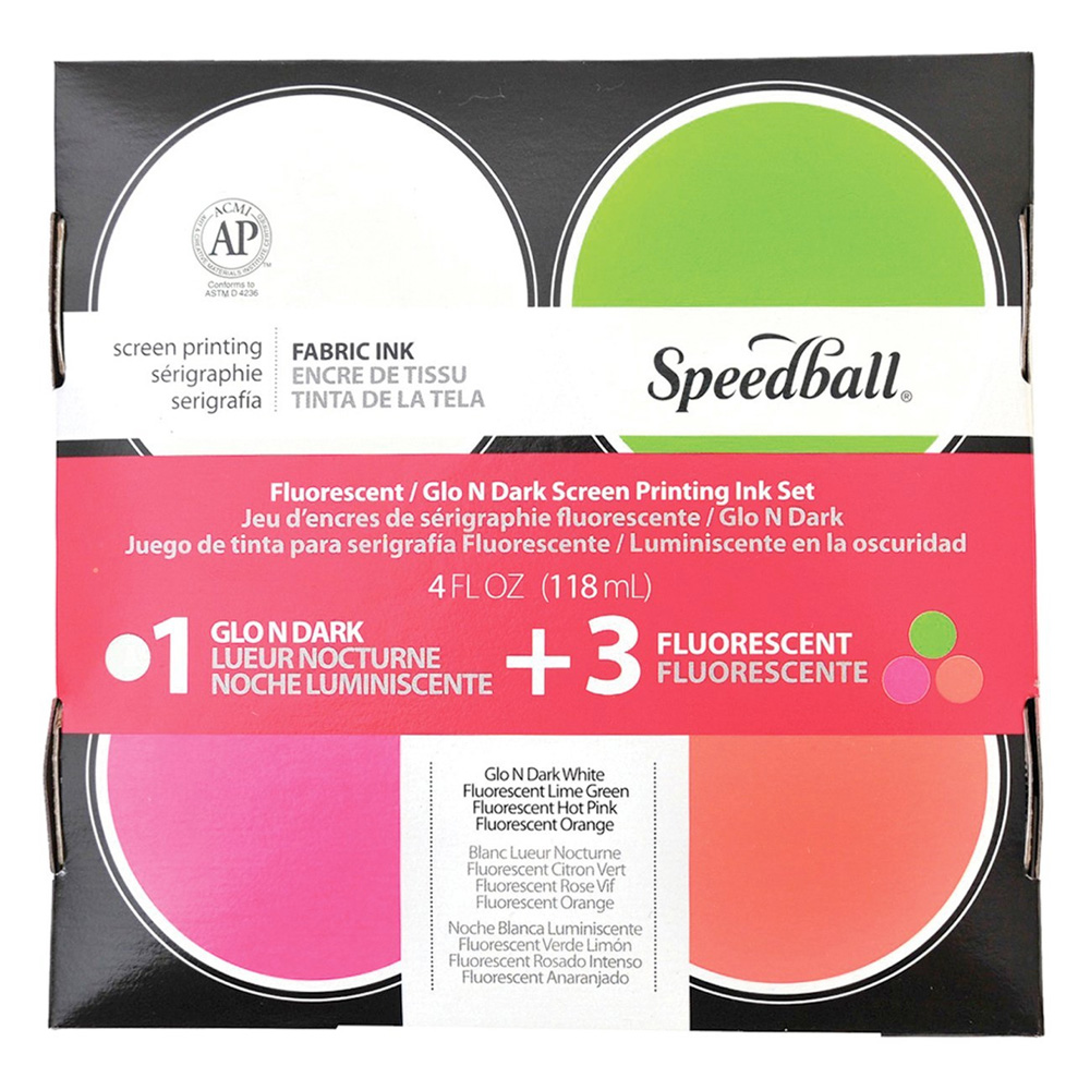 Speedball 45027 Glo'n'dark Screenprint Set