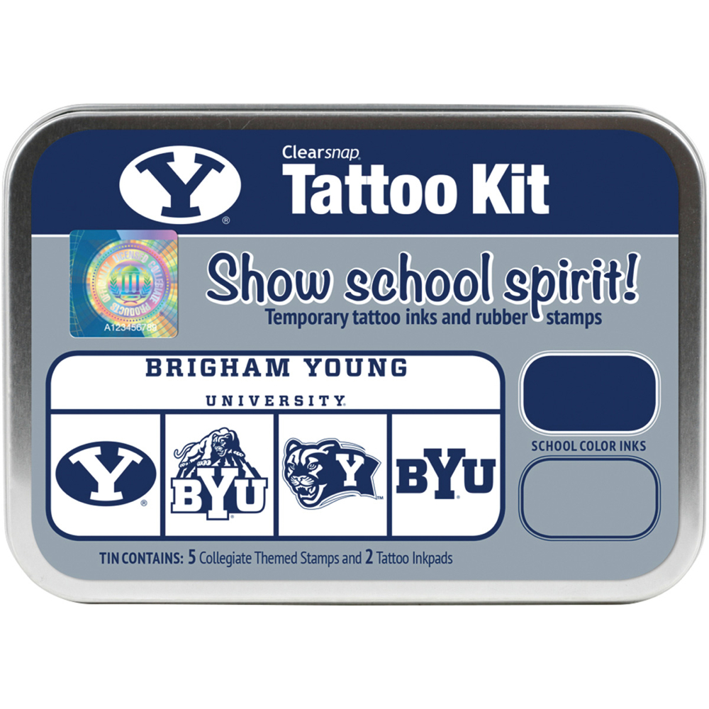 Collegiate Tattoo Kit Brigham Young Univ