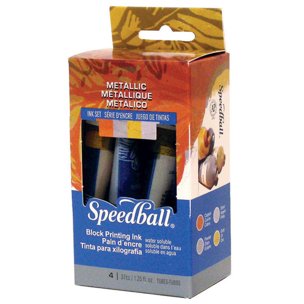 Speedball Metallic Block Print Ink Set