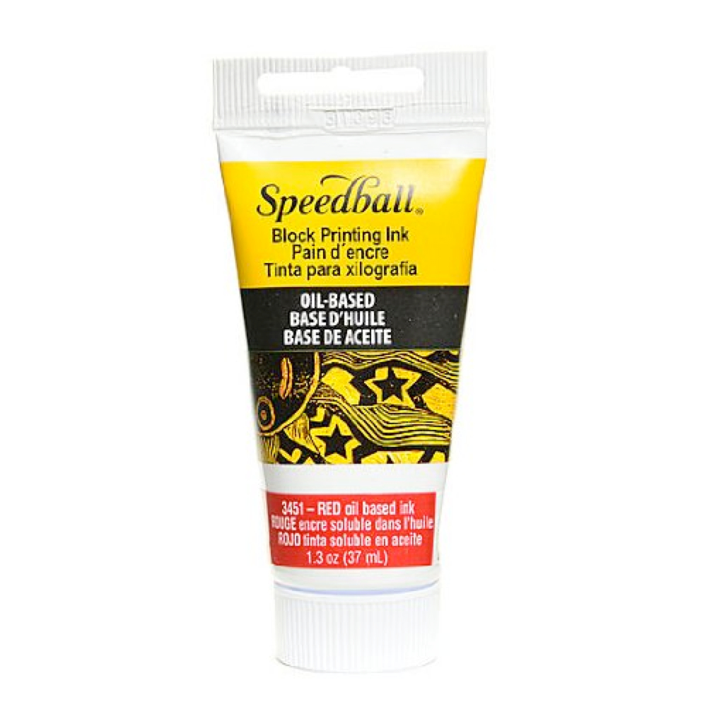 Speedball Oil Block Prtg Ink 37Cc Red