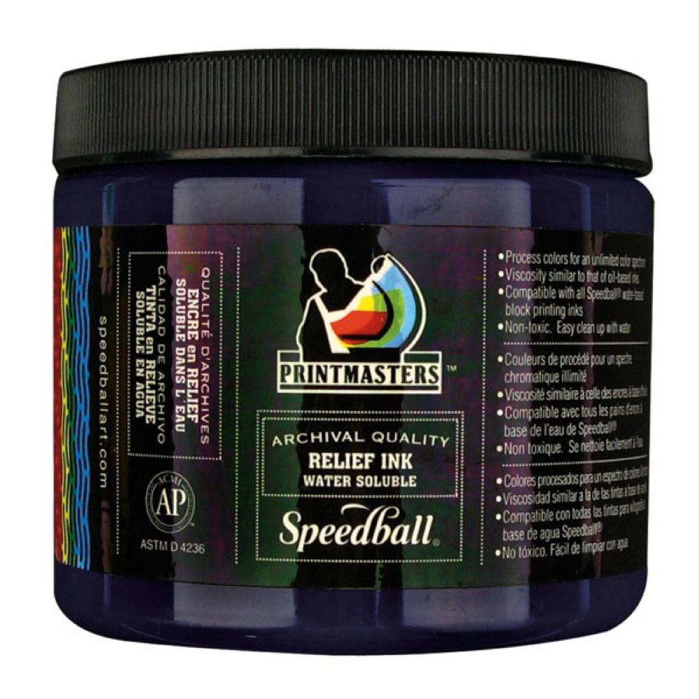 Speedball Relief Ink 16 Oz Process Cyan