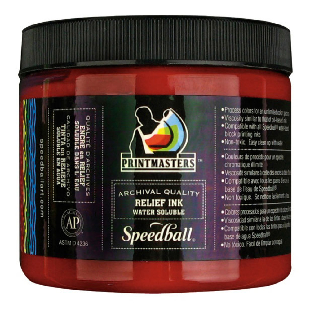 Speedball Relief Ink 16 Oz Process Magenta