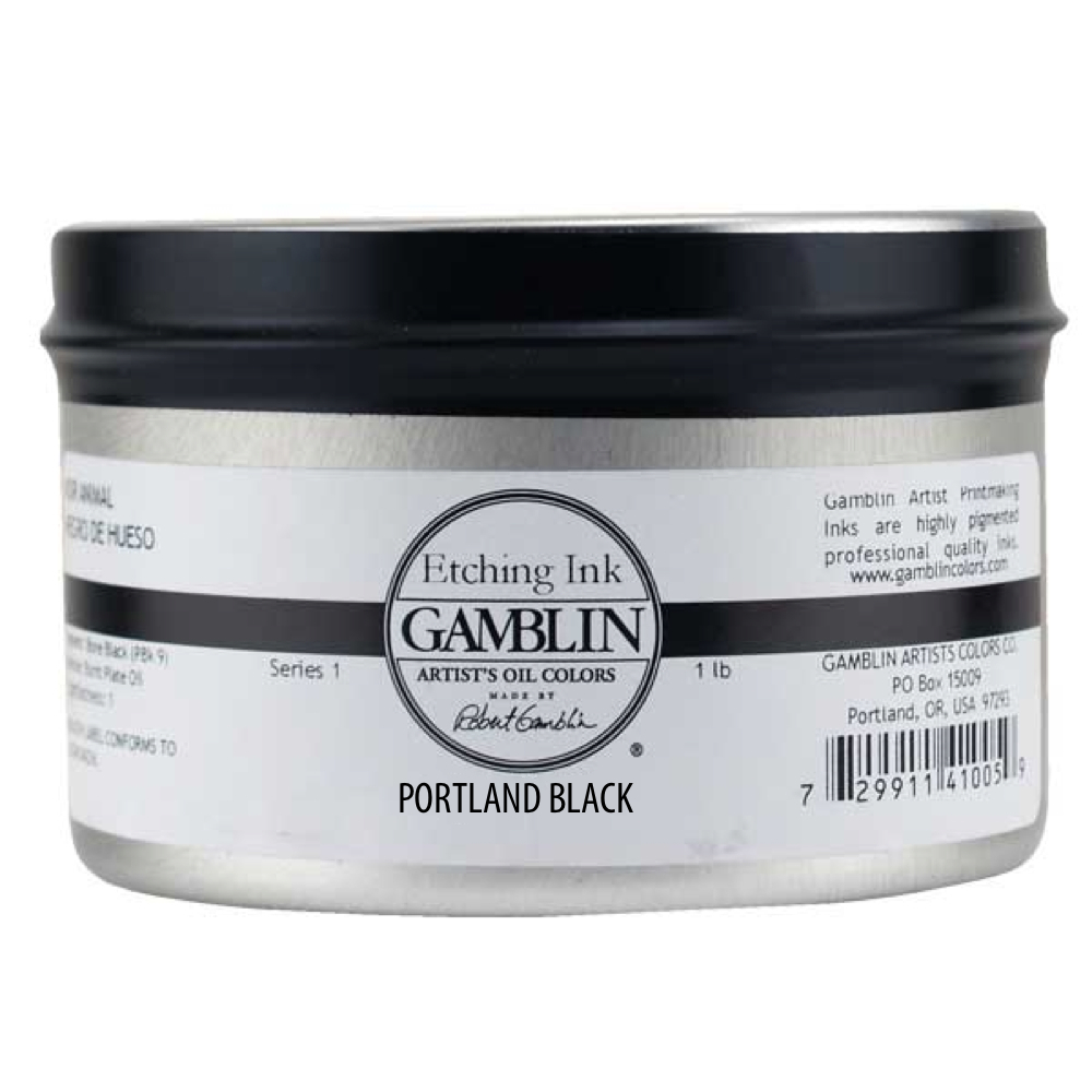 Gamblin Etching Ink Portland Cool Black 1 Lb