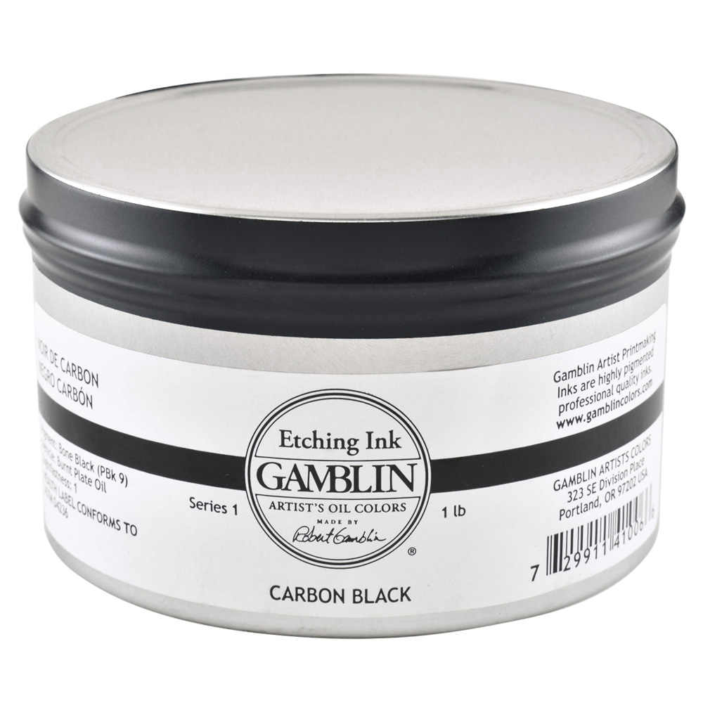 Gamblin Etching Ink Carbon Black 1 Lb