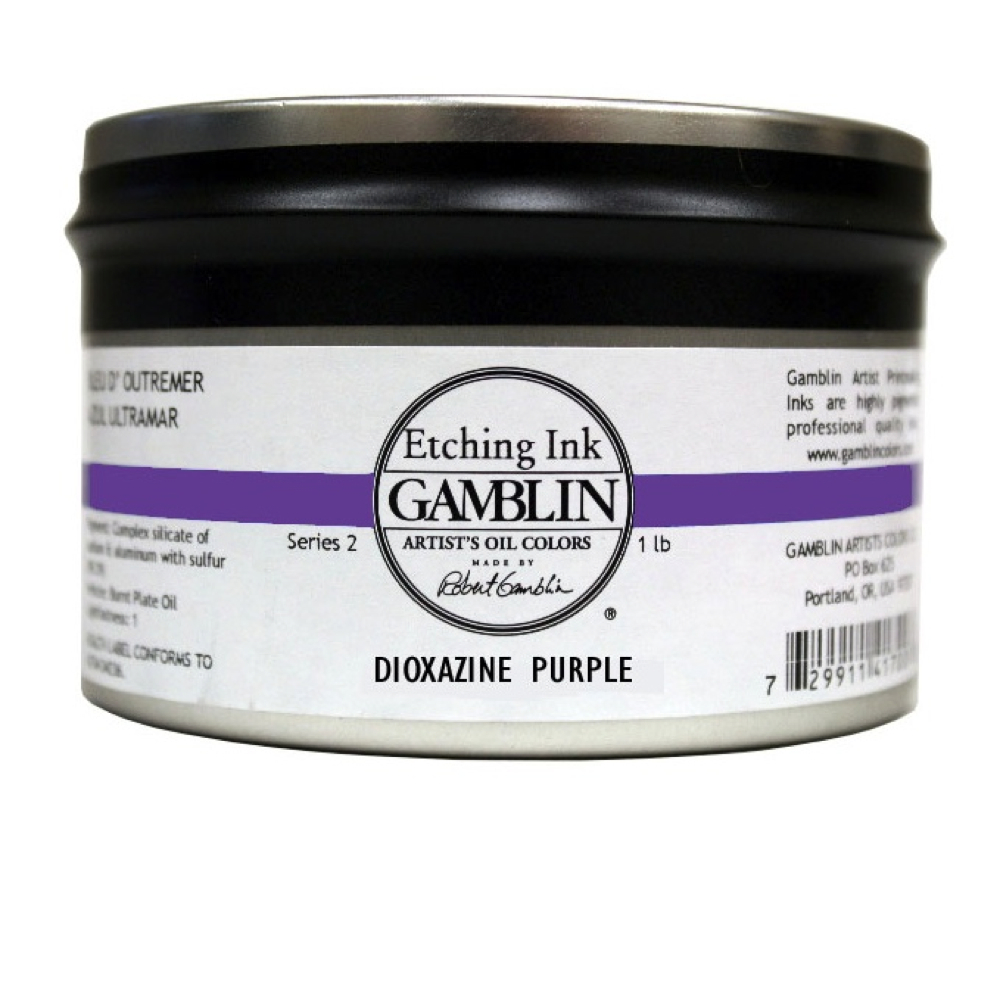 Gamblin Etching Ink Dioxazine Purple 1 Lb