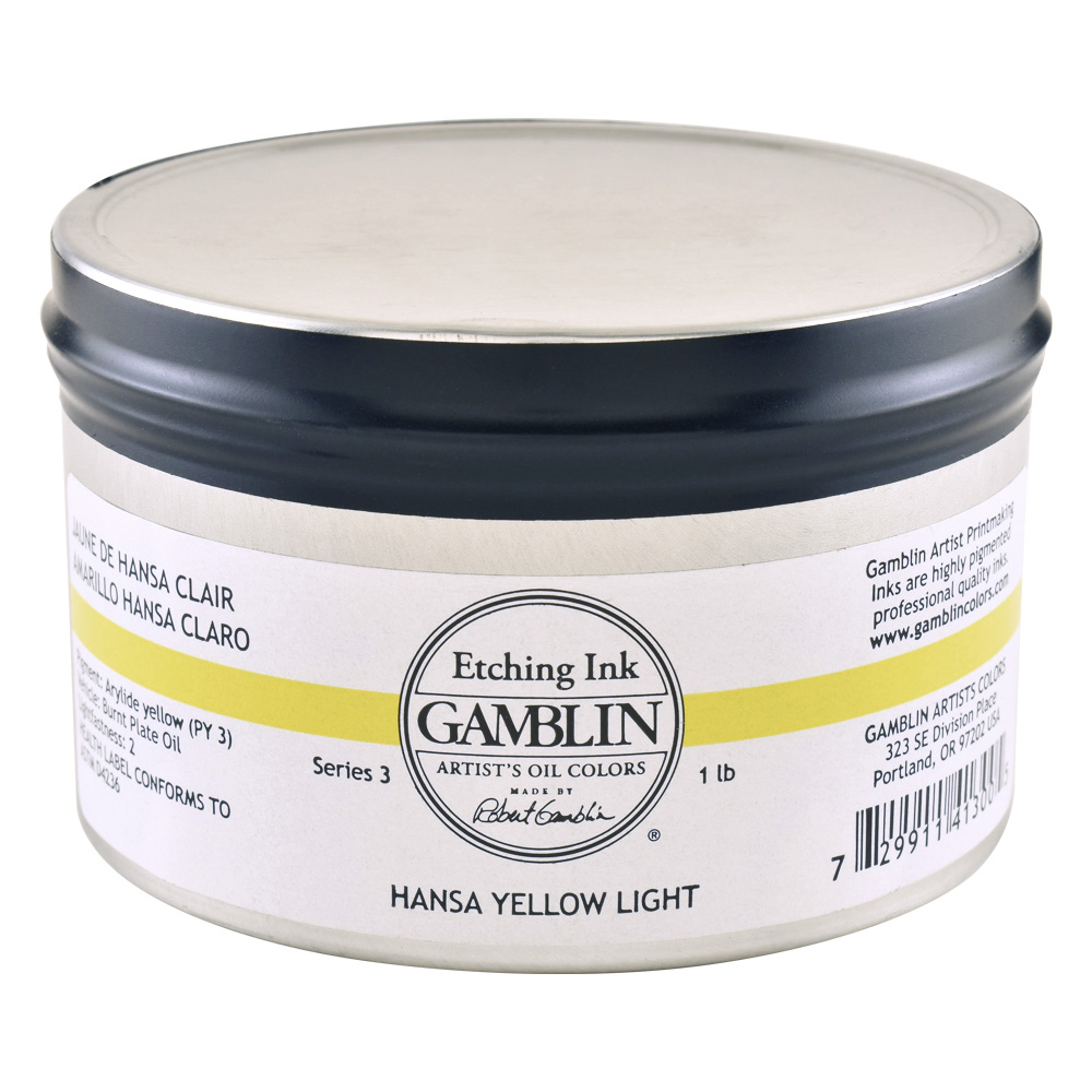 Gamblin Etching Ink Hansa Yellow Lt 1 Lb