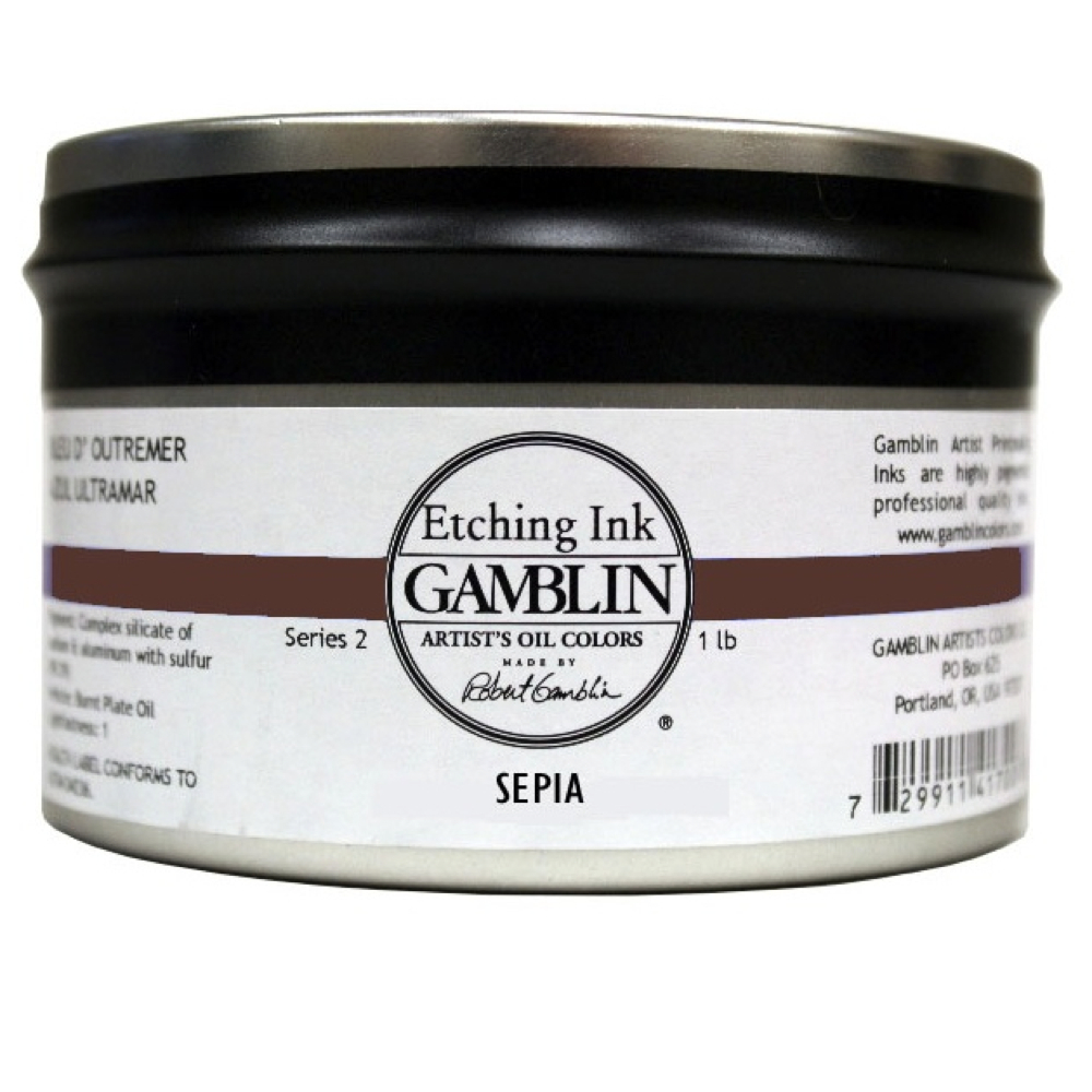 Gamblin Etching Ink Sepia 1 Lb