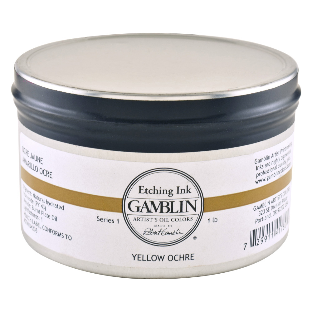 Gamblin Etching Ink Yellow Ochre 1 Lb