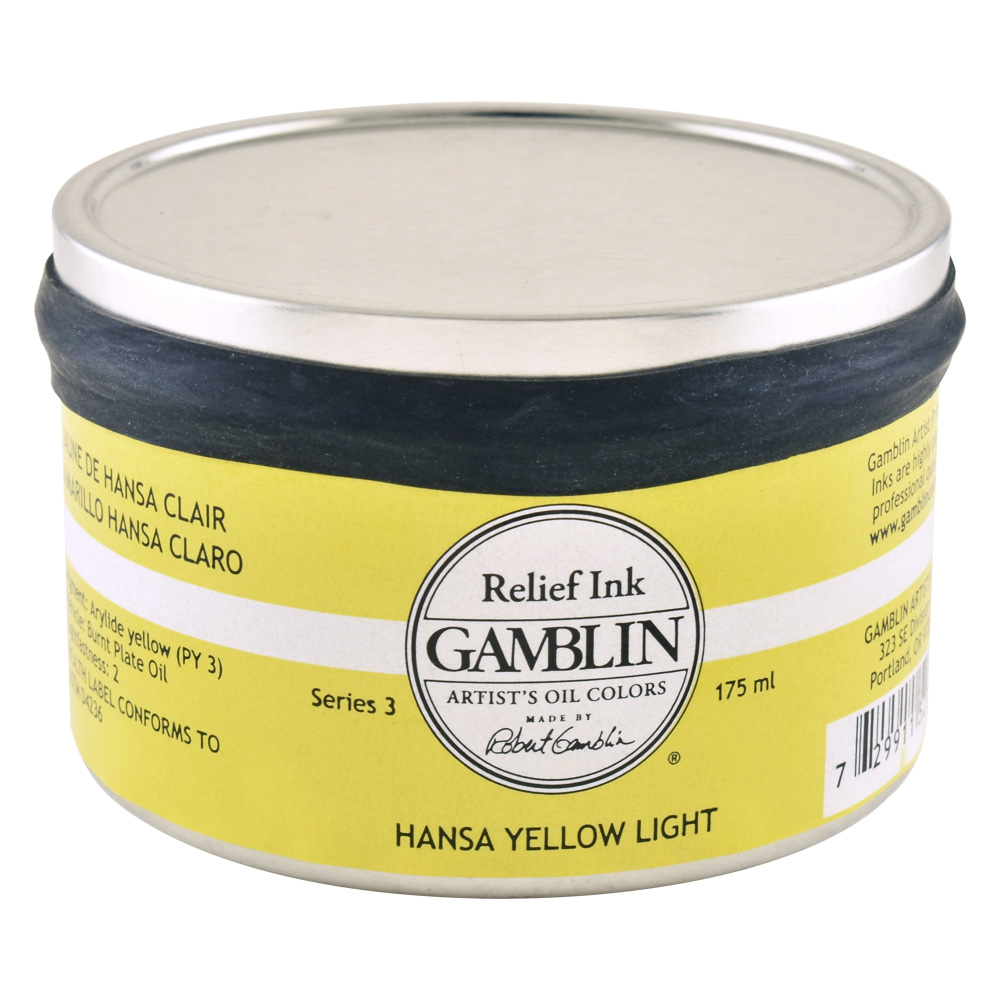 Gamblin Relief Ink Hansa Yellow Light 175Ml