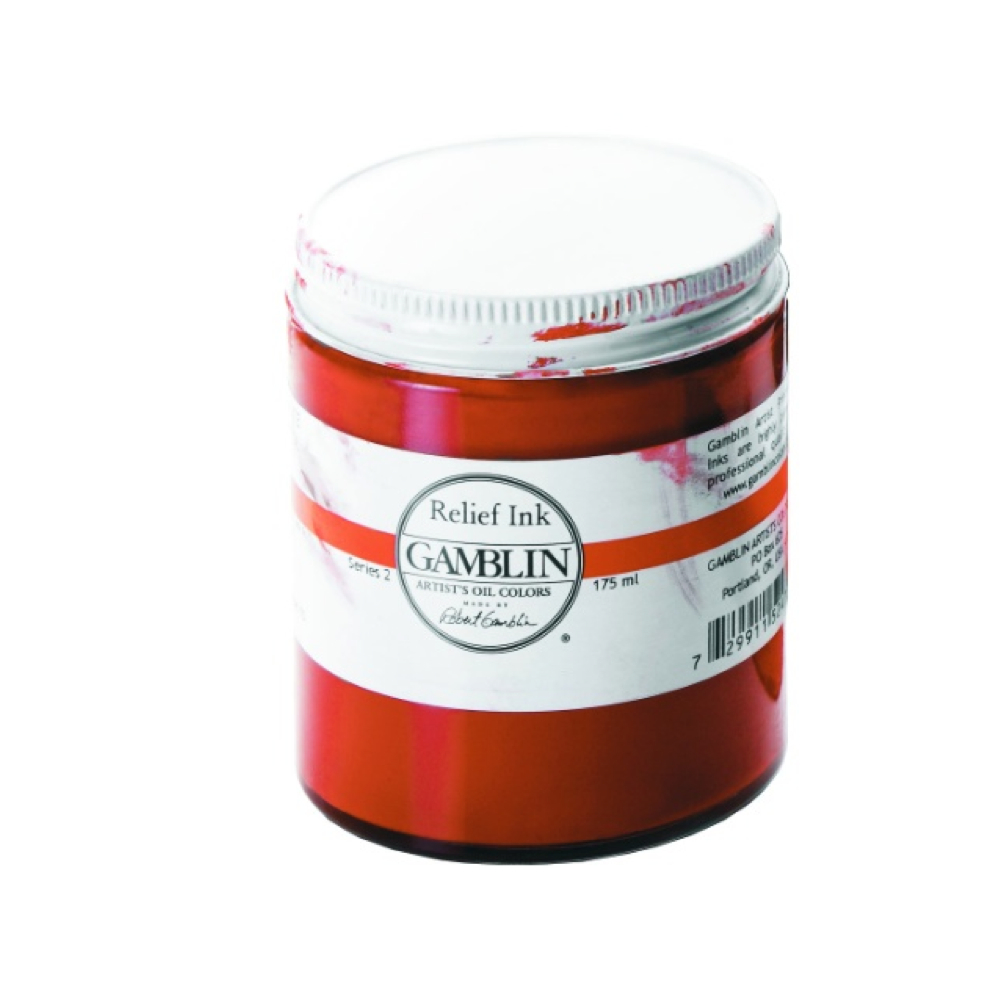 Gamblin Relief Ink Napthol Scarlet 175Ml