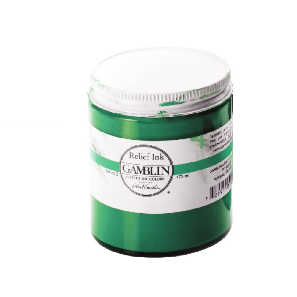 Gamblin Relief Ink Phthalo Green 175Ml