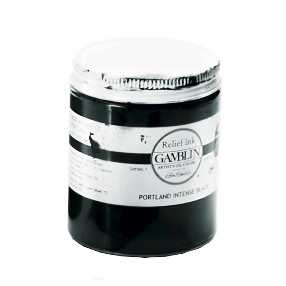 Gamblin Relief Ink Portland Int Black 175Ml