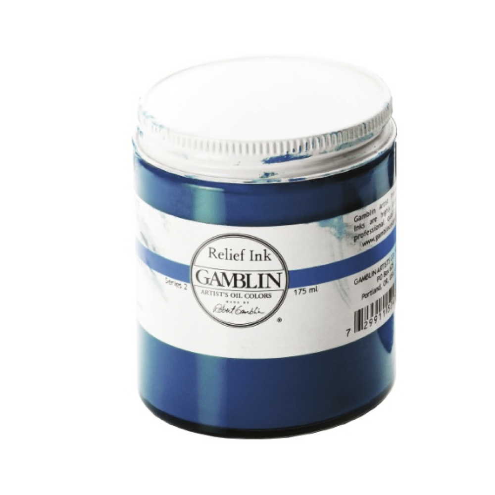 Gamblin Relief Ink Prussian Blue 175Ml