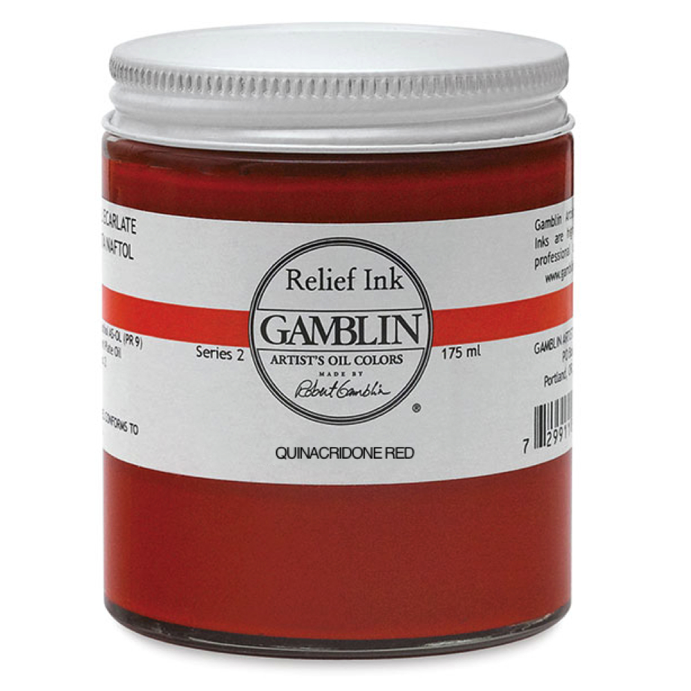 Gamblin Relief Ink Quinacridone Red 175Ml