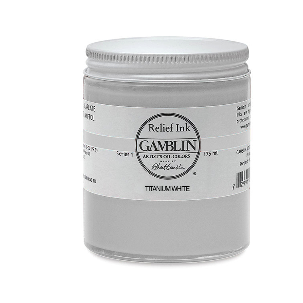 Gamblin Relief Ink Titanium White 175Ml