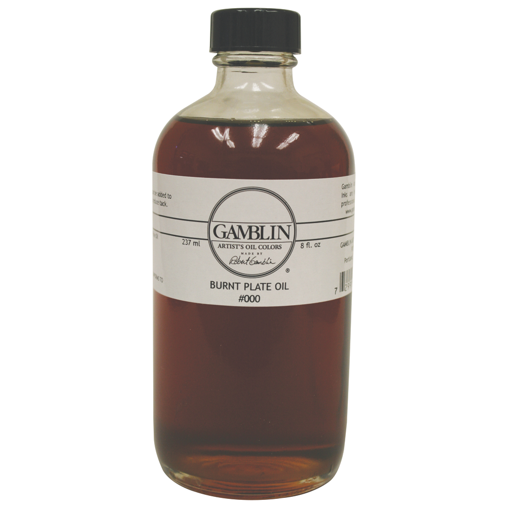 Gamblin Burnt Plate Oil #000 8 Oz