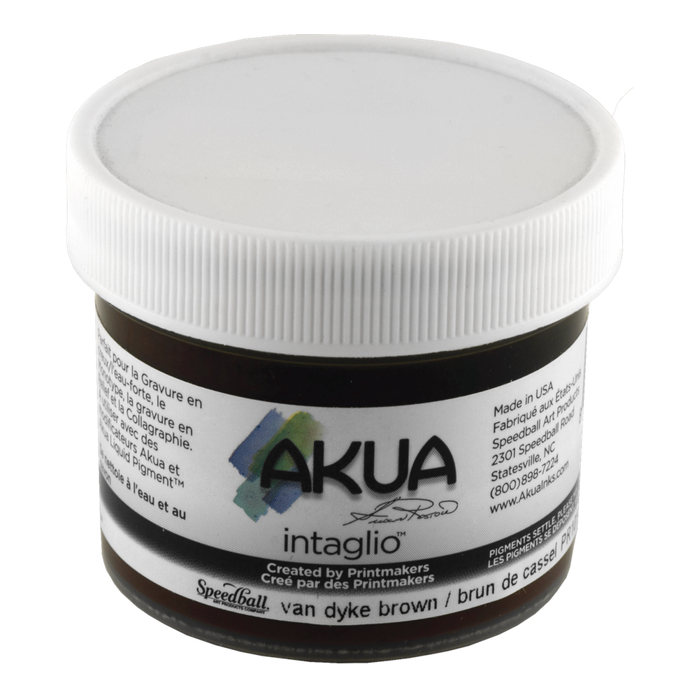 Akua Intaglio Ink 2 Oz Vandyke Brown