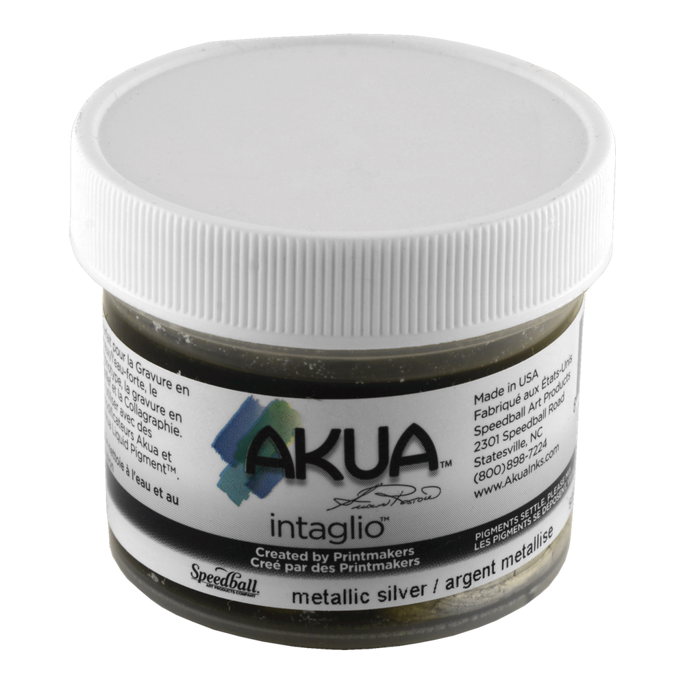 Akua Intaglio Ink 2 Oz Metallic Silver