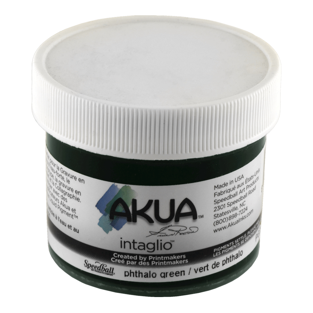 Akua Intaglio Ink 2 Oz Phthalo Green