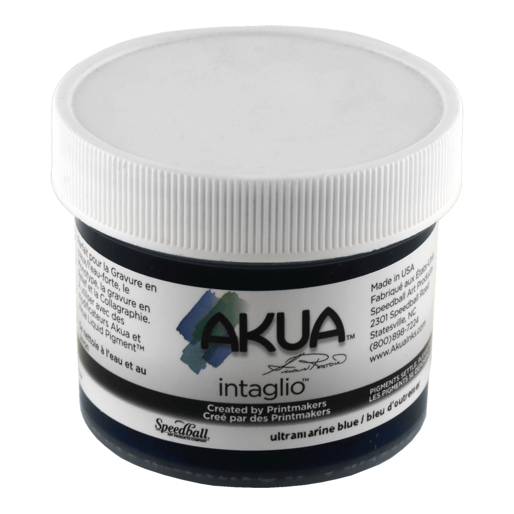 Akua Intaglio Ink 2 Oz Ultramarine Blue