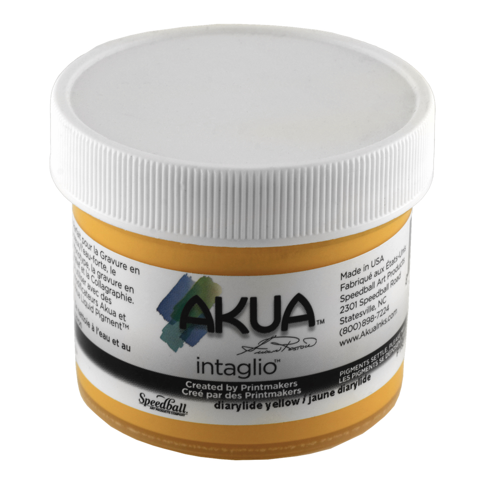Akua Intaglio Ink 2 Oz Dairylide Yellow