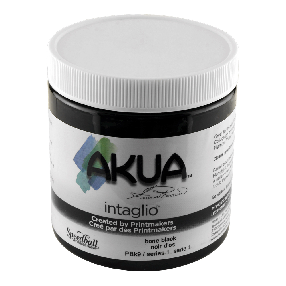 Akua Intaglio Ink 8 Oz Bone Black