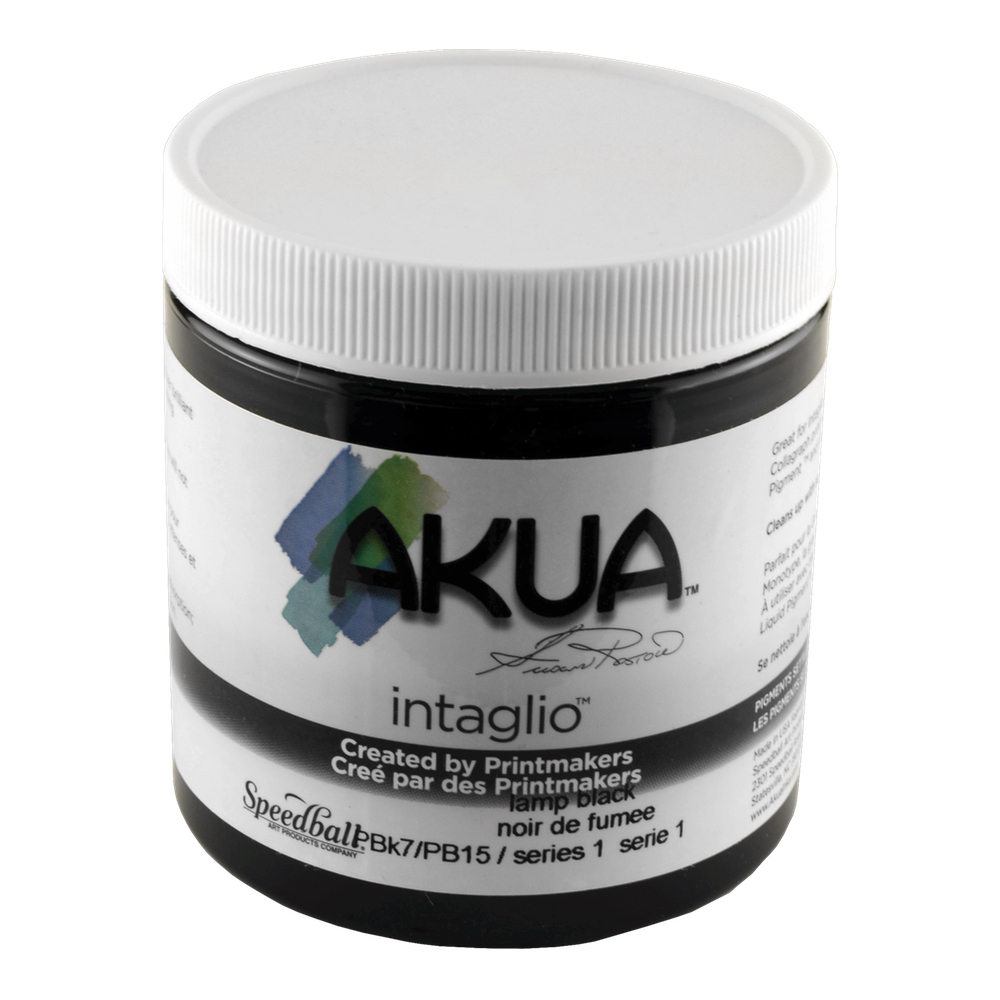 Akua Intaglio Ink 8 Oz Lamp Black