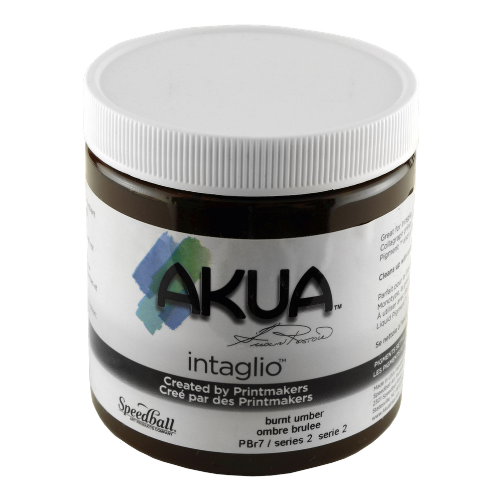 Akua Intaglio Ink 8 Oz Burnt Umber