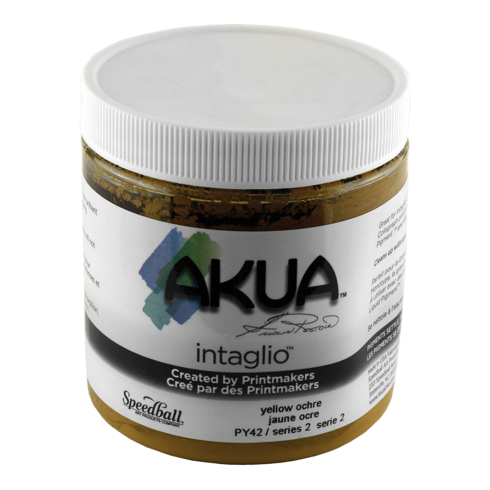 Akua Intaglio Ink 8 Oz Yellow Ochre