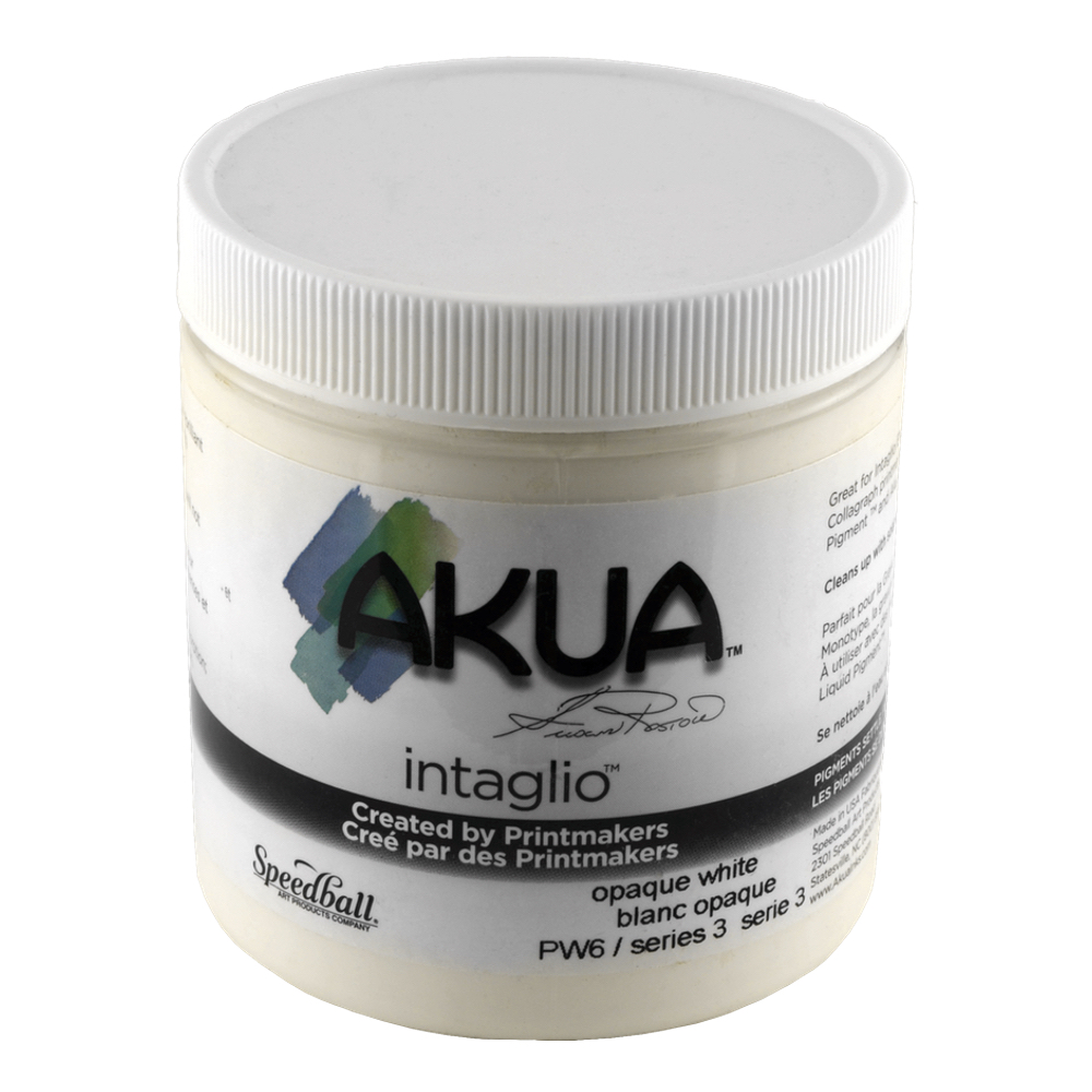 Akua Intaglio Ink 8 Oz Opaque White