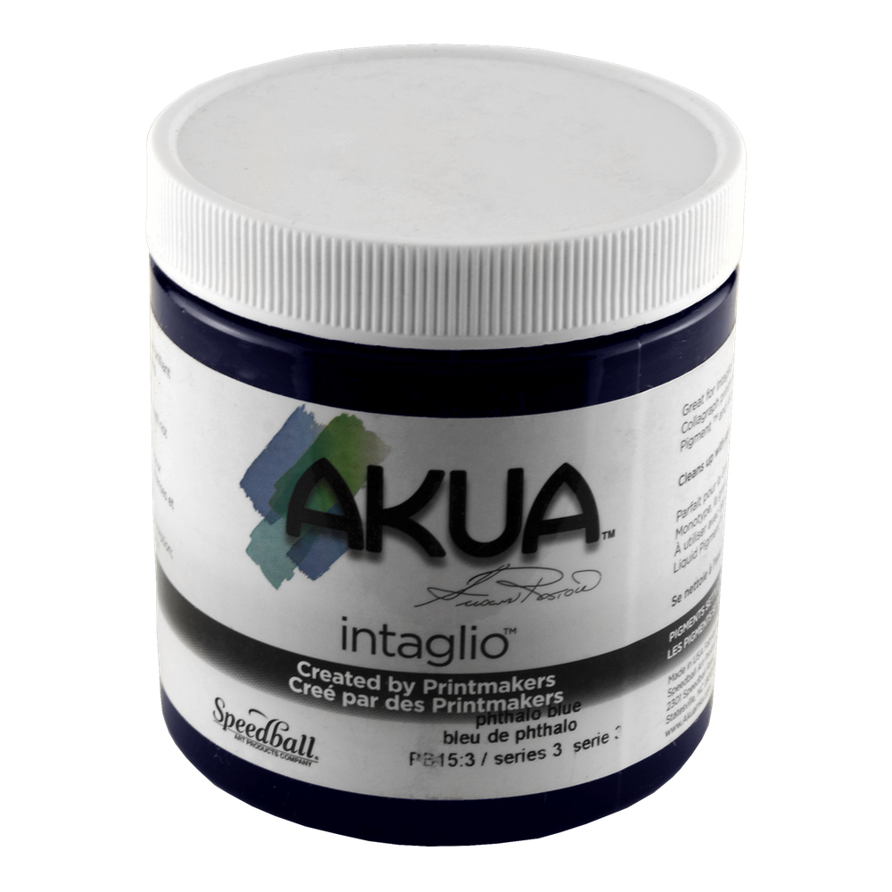 Akua Intaglio Ink 8 Oz Phthalo Blue