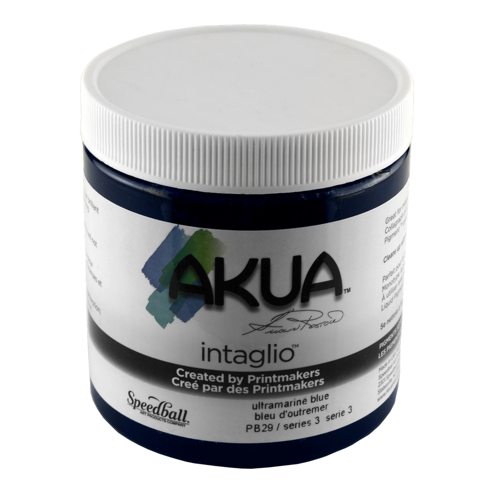 Akua Intaglio Ink 8 Oz Ultramarine Blue