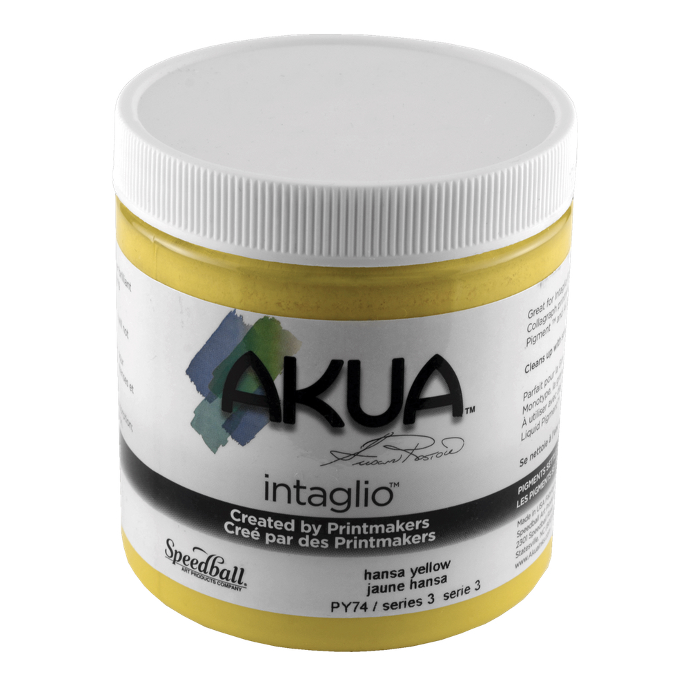 Akua Intaglio Ink 8 Oz Hansa Yellow