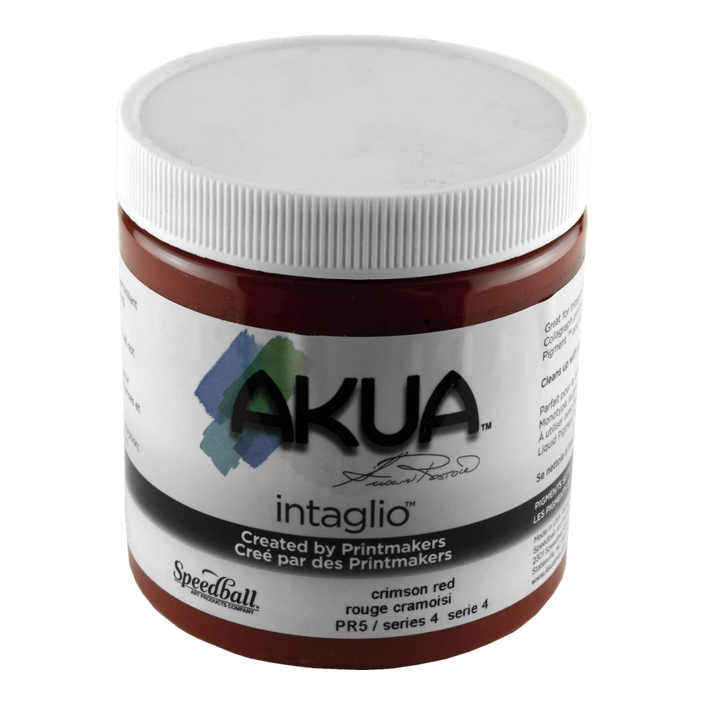 Akua Intaglio Ink 8 Oz Crimson Red