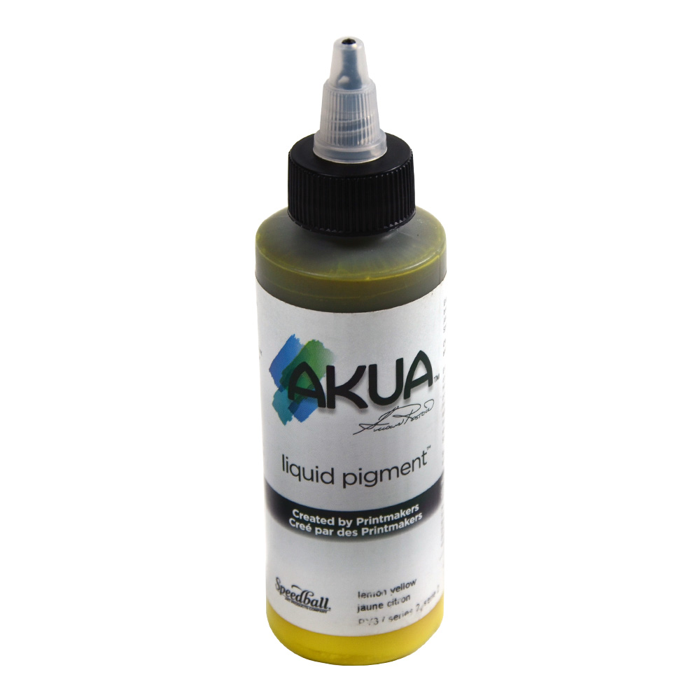 Akua Liquid Pigment 4 Oz Lemon Yellow
