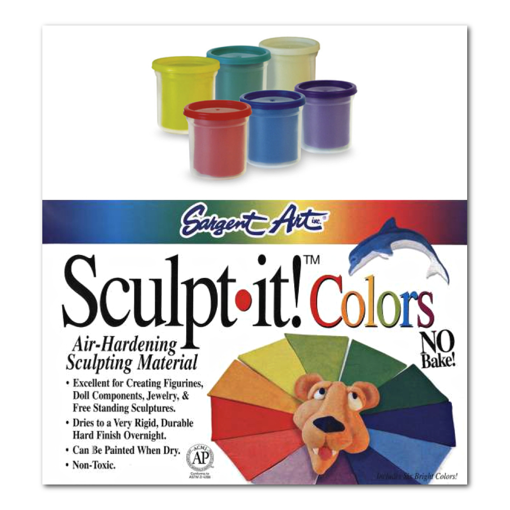 Sculpt It! Modeling Material 6-Color Set