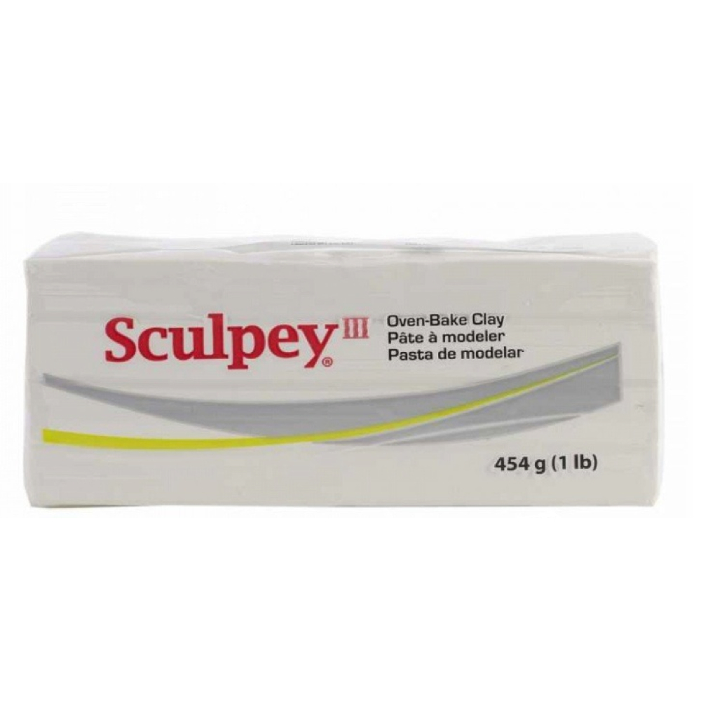 Sculpey 3 White 8 Oz