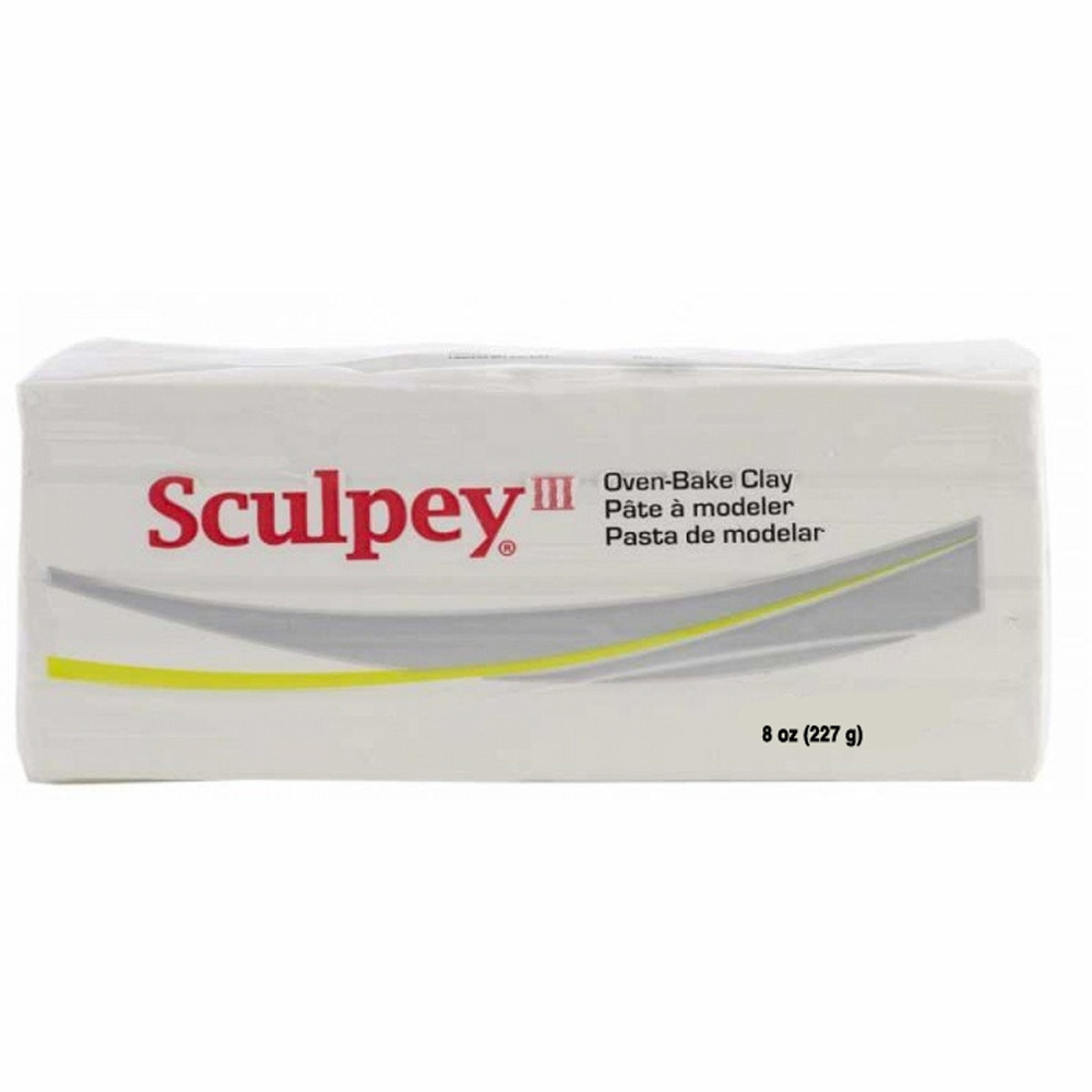 Sculpey Iii White 8 Oz