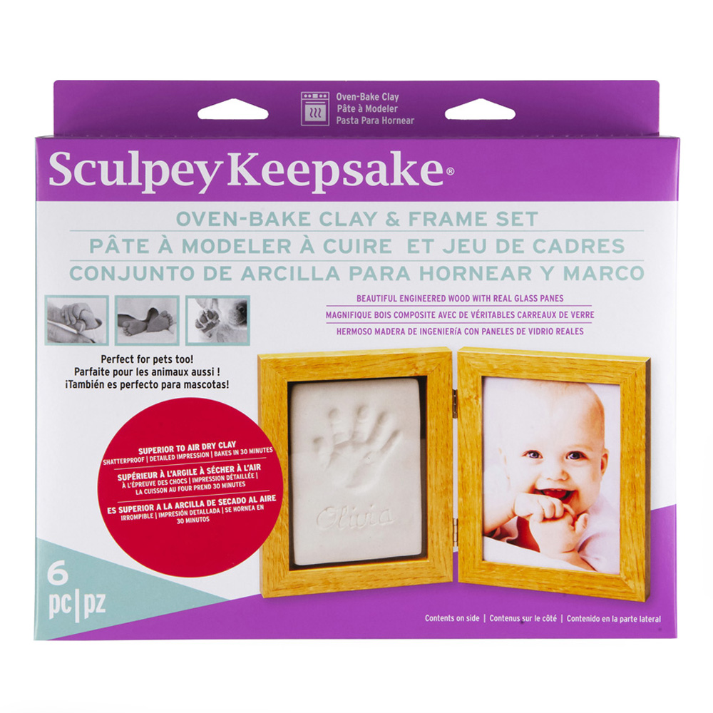 Sculpey Keepsake Frame Kit White