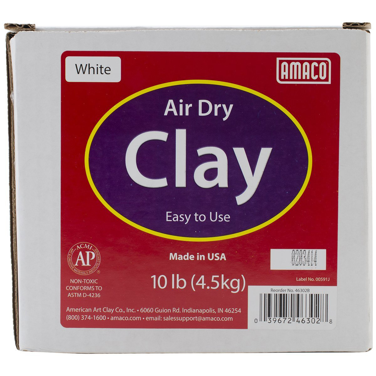 Amaco Air Dry Modeling Clay 10Lbs White