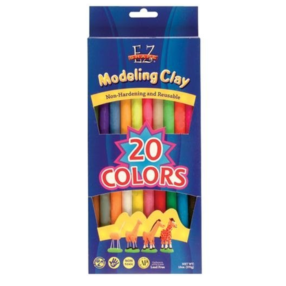 Ez Shape Modeling Clay 20 Color Variety Pack