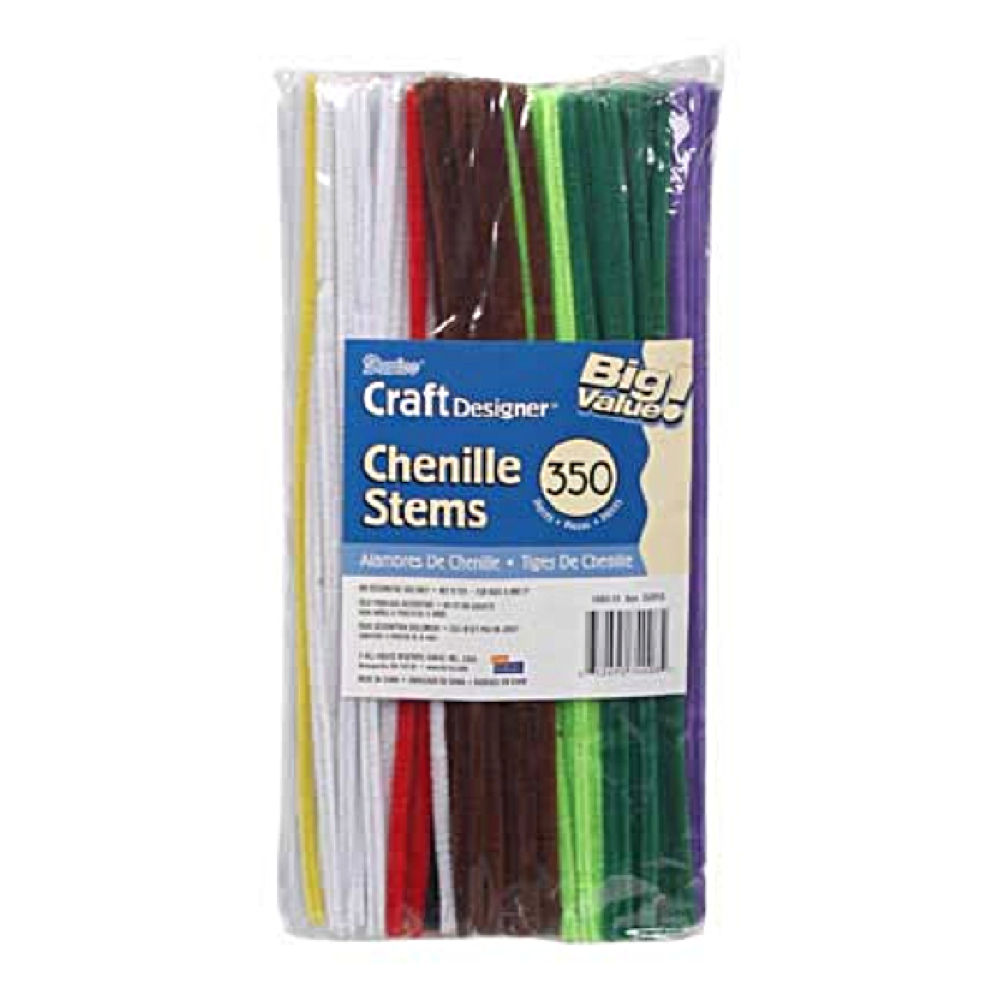 Pipe Cleaners Assorted Colors 6Mm 12In 350/Pk