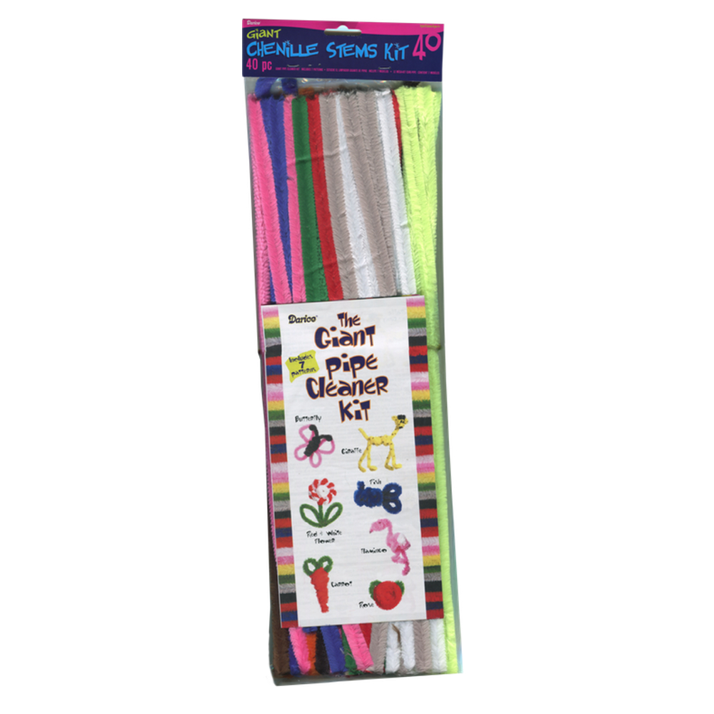 Pipe Cleaners Asst Colors 20Inch 15Mm 40/Pk