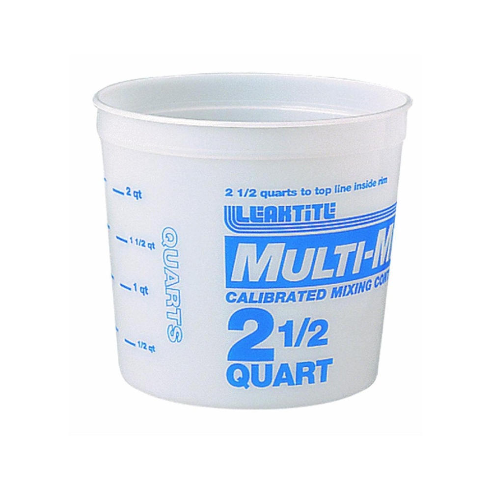 Multi-Mix Plastic Container 2.5 Qt.