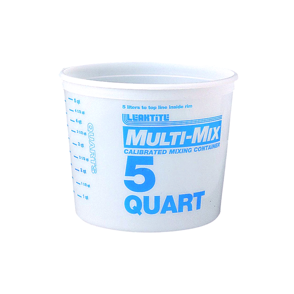 Multi-Mix Plastic Container 5 Qt.