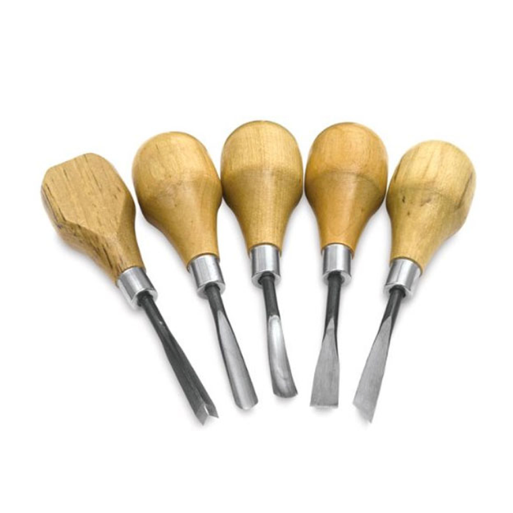 Wood & Linoleum Carving Tool Set Of 5