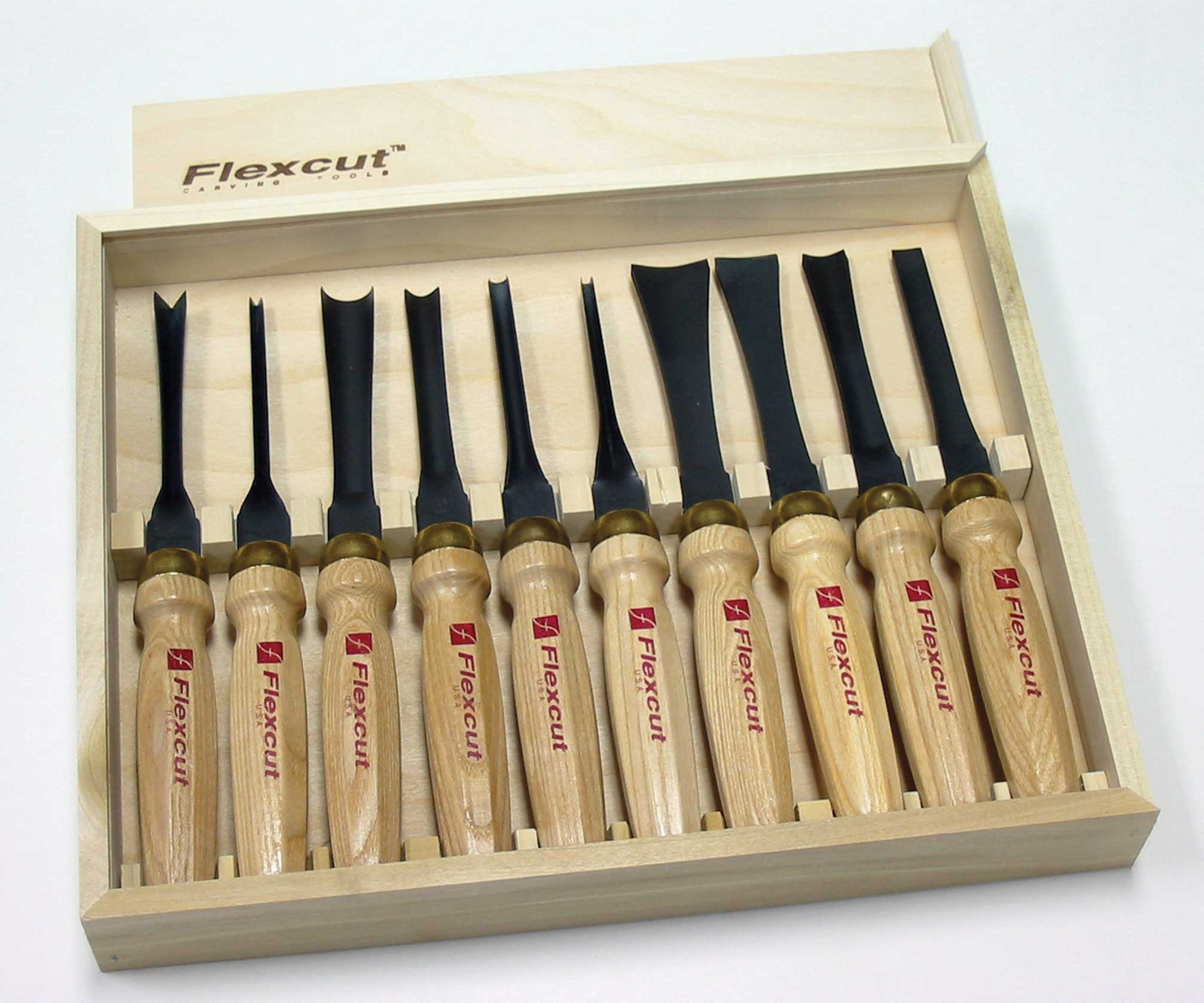 Flexcut 10 Pc. Deluxe Mallet Set