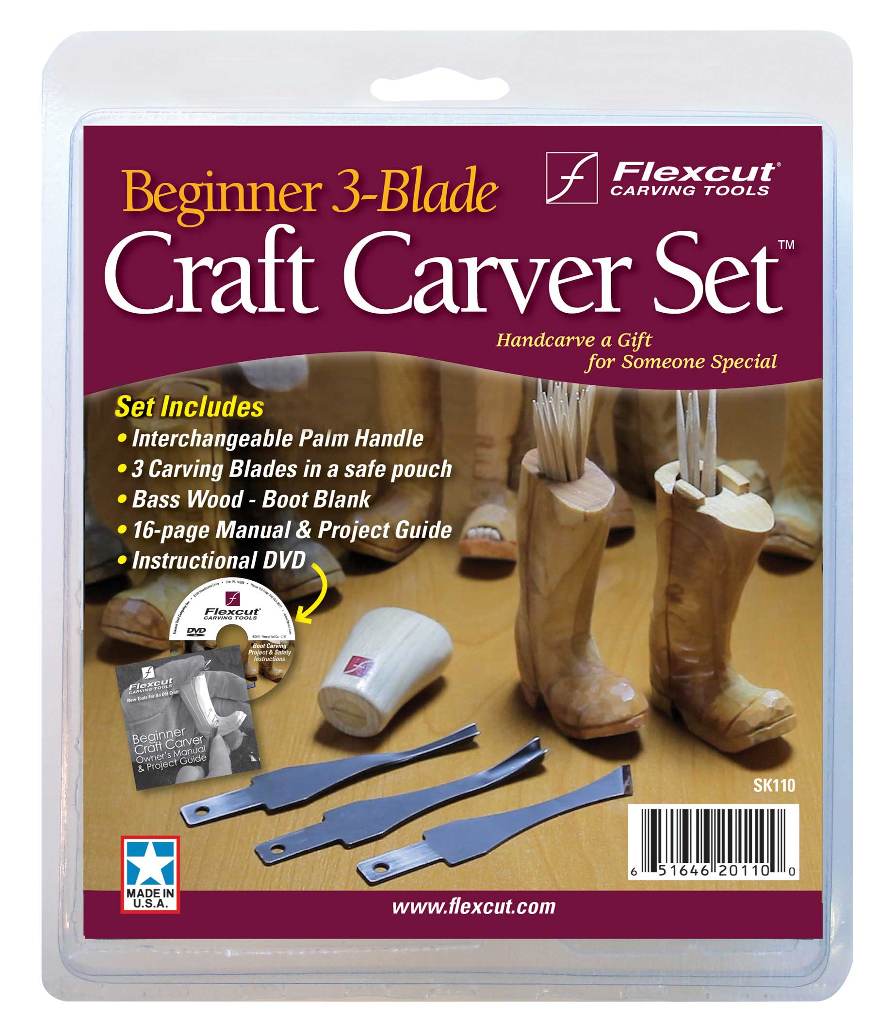 Flexcut Beginner 3-Blade Craft Carver Set