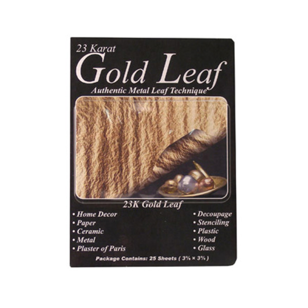 Mona Lisa 23K Genuine Gold Metal Leaf/25 Pk